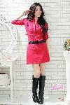 ราคา ชุดเดรส รหัสสินค้า NC3161 เดรสผ้าค๊อตตอนสีแดง